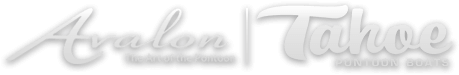 Avalon and Tahoe Pontoon Boat Logos