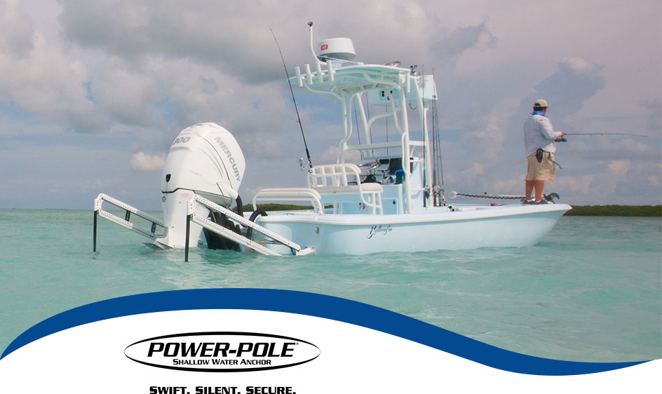 Power Pole Anchor Boat