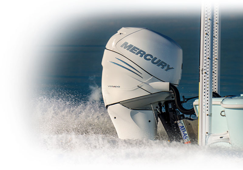 Power Pole with Mercury Outboard