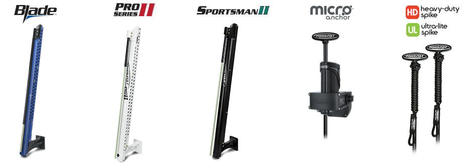 Power Pole Blade - Pro Series II - Sportsman II - Micro Anchor - Heavy Duty Spike - Ultra-Lite Spike