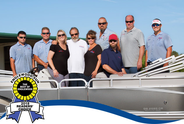 Abel's Marine Staff with Best of Englewood Award 2018