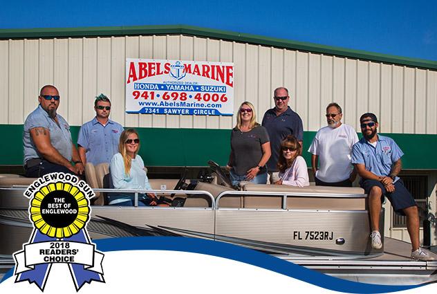 Abel's Marine Staff with Best of Englewood Award 2018