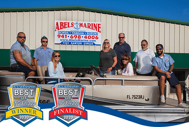 Abel's Marine Staff with Best of Englewood Award 2020